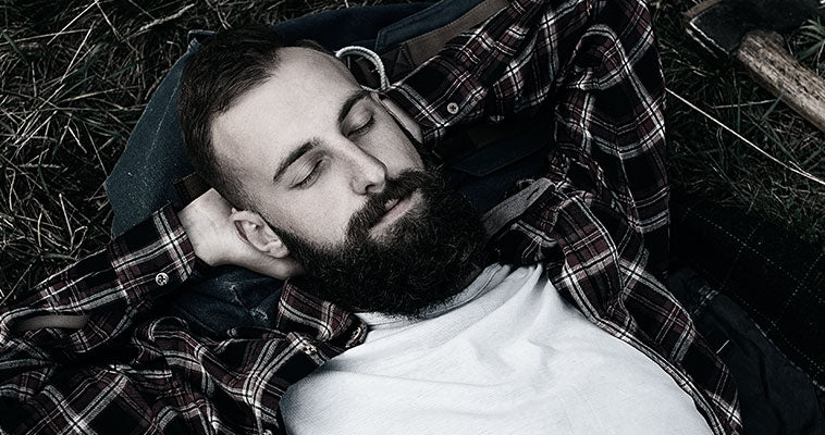 Bearded Man Resting