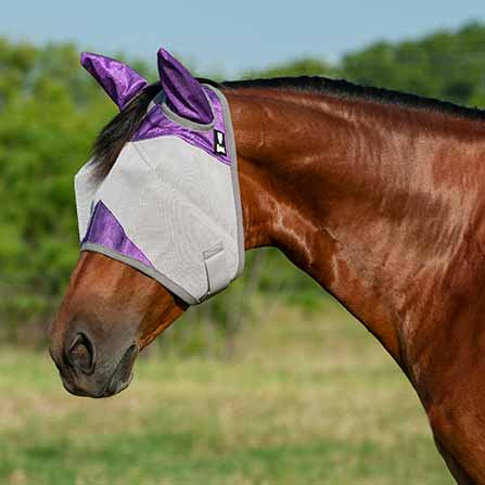 Cashel Crusader Orchid Fly Mask with Ears