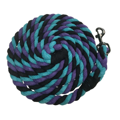 Kensington 10' Heavy Cotton Tri-Colored Lead Rope