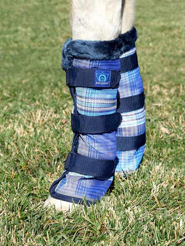 Kensington Draft Fly Boots in Dark Blue Plaid
