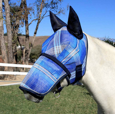 Kensington Draft Fly Mask with Soft Mesh Ears and Removable Nose