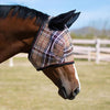 Kensington Fly Mask with Web Trim with Ears in Deluxe Black Plaid
