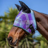 Kensington Fly Mask with Web Trim with Ears in Lavender Mint Plaid