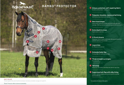 Rambo Protector Fly Sheet with FREE Mask