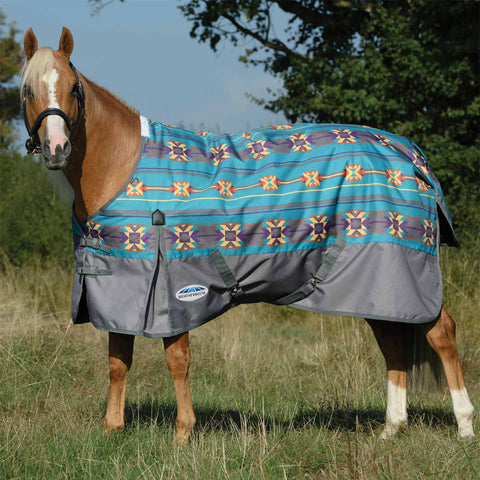 WeatherBeeta ComFiTec Essential Navajo Print Medium Turnout Blanket