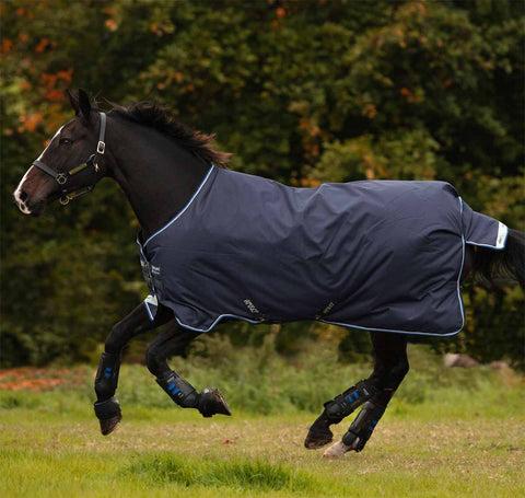 Amigo Bravo 12 Original 250g Medium Horse Turnout Blanket in Navy