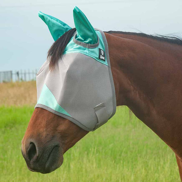Cashel Crusader Mint Fly Mask with Ears