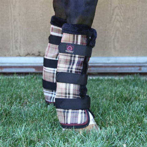 Kensington Protective Fly Boots - Deluxe Black Plaid