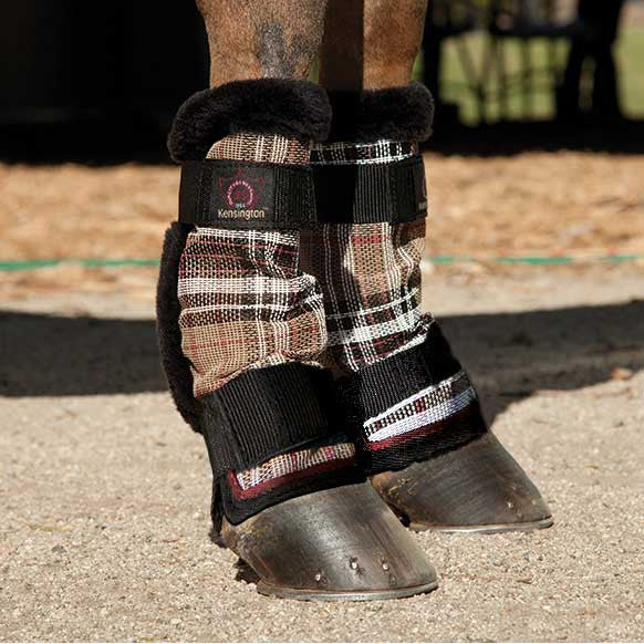 Kensington Protective Pony Fly Boots - Deluxe Black Plaid