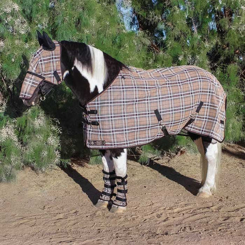 Kensington Draft Protective Fly Sheet - Deluxe Black Plaid
