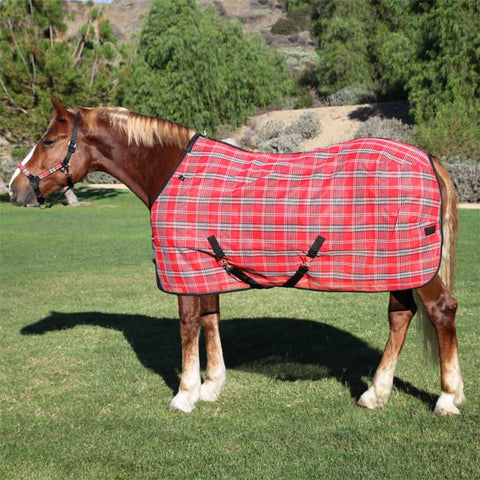 Kensington Draft Protective Fly Sheet - Deluxe Red Plaid