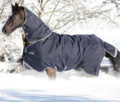 Rambo Duo Turnout Blanket in Navy