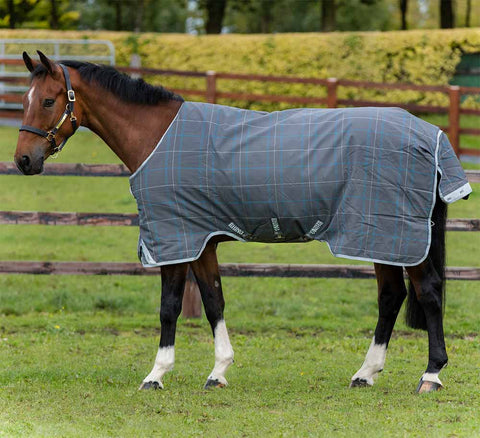 Rhino Original Lite Turnout Sheet in Charcoal Plaid