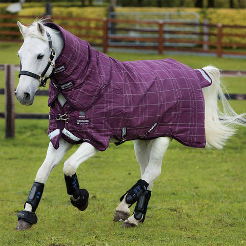 Rhino Pony Plus 200g Medium Turnout Blanket in Berry Plaid