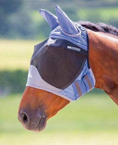 Shires Deluxe Fly Mask with Ears in Royal