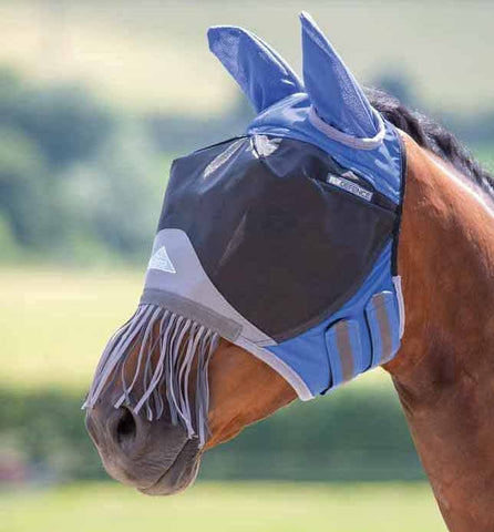 Shires Deluxe Fly Mask with Ears and Fringe