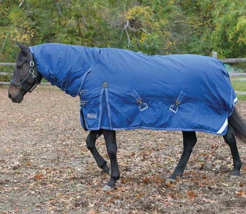 Shires StormCheeta Combo 400g Turnout Blanket in Navy