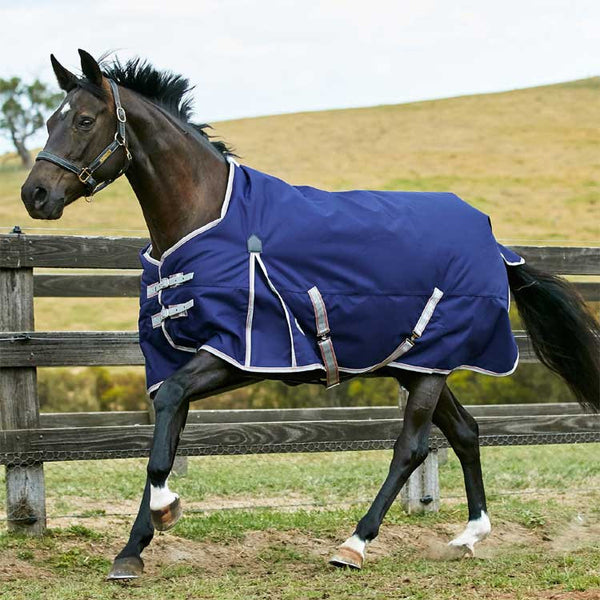 WeatherBeeta ComFiTec Essential Standard Neck Medium Turnout Blanket Navy