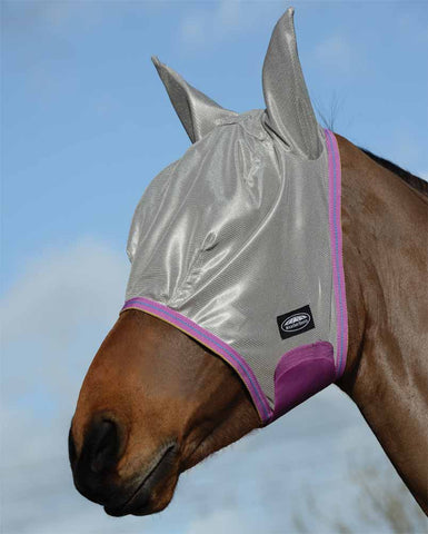 WeatherBeeta ComfiTec Essential Mesh Fly Mask in silver
