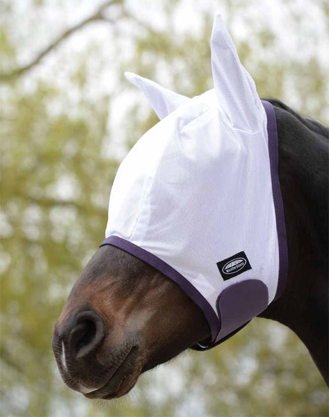 WeatherBeeta ComfiTec Essential Mesh Fly Mask in white