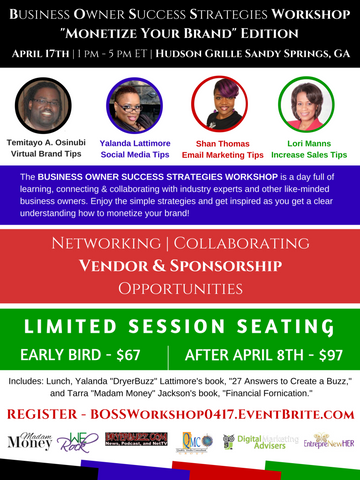 Business Owner Success Strategies Workshop ATL