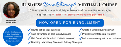 Business Breakthrough 10 Week Virtual Course Pre-Registration