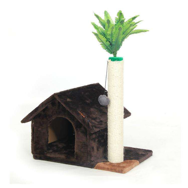 Cat House with tree - Meow Merch - 2