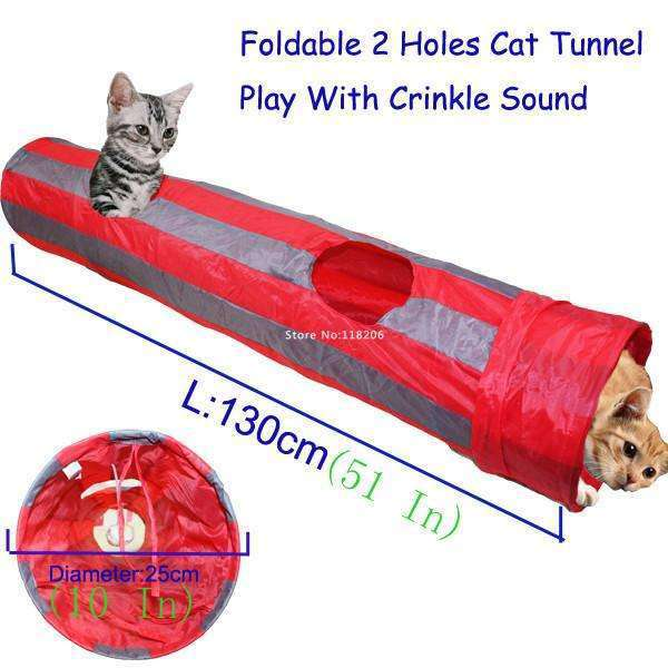 Cat Play Tunnel - Meow Merch - 1