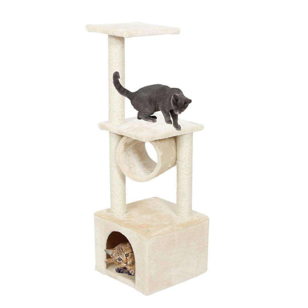 Domestic Delivery Cat Wood Climbing Tree - Meow Merch - 1