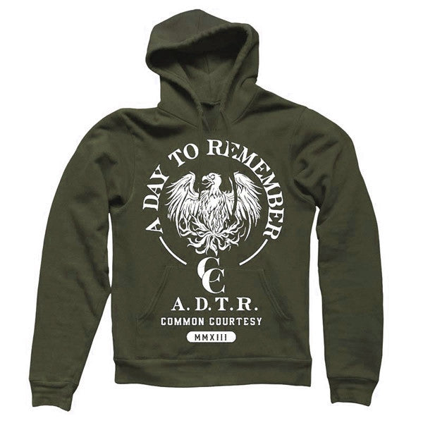 Military Green Common Courtesy Pullover Hoodie