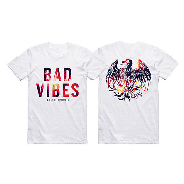 WHITE BAD VIBES TEE