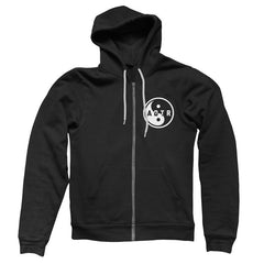BAD VIBRATIONS Black Zip Hoody