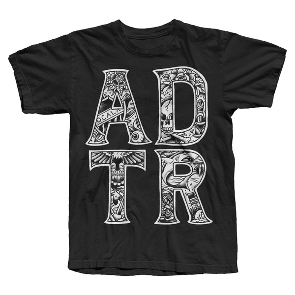 TATTOO LETTERS BLACK T-SHIRT