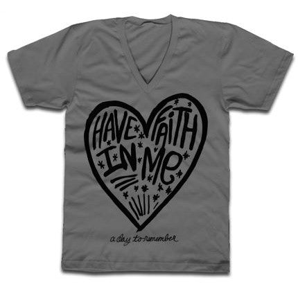GREY HAVE FAITH IN ME T-SHIRT