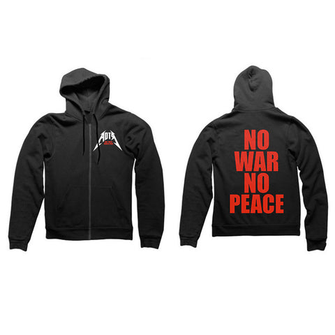 NO WAR ZIP HOODY