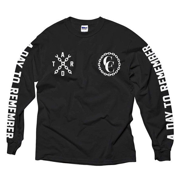 BLACK CHAIN LONGSLEEVE T-SHIRT