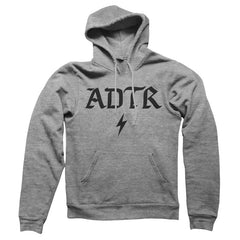 BAD VIBES BOLT GREY HOODY