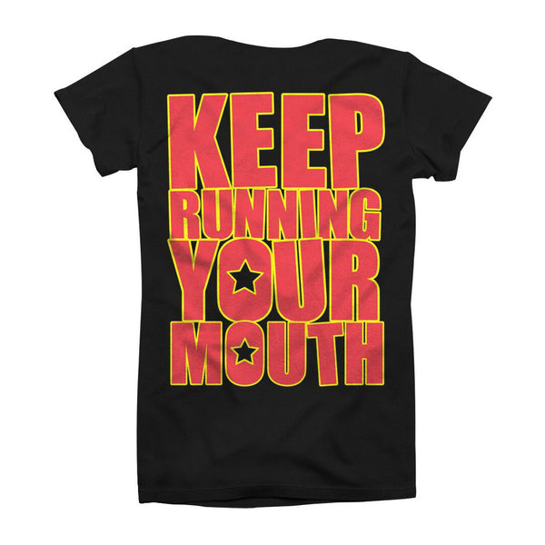 RUNNING YOUR MOUTH BLACK TEE
