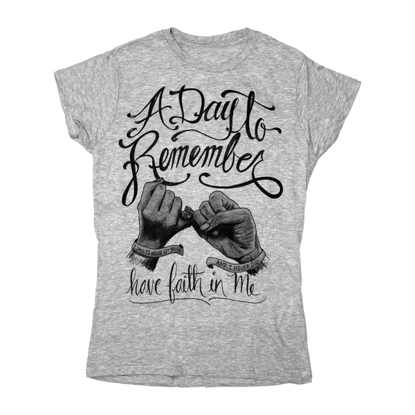 GREY HAVE FAITH IN ME GIRLS T-SHIRT