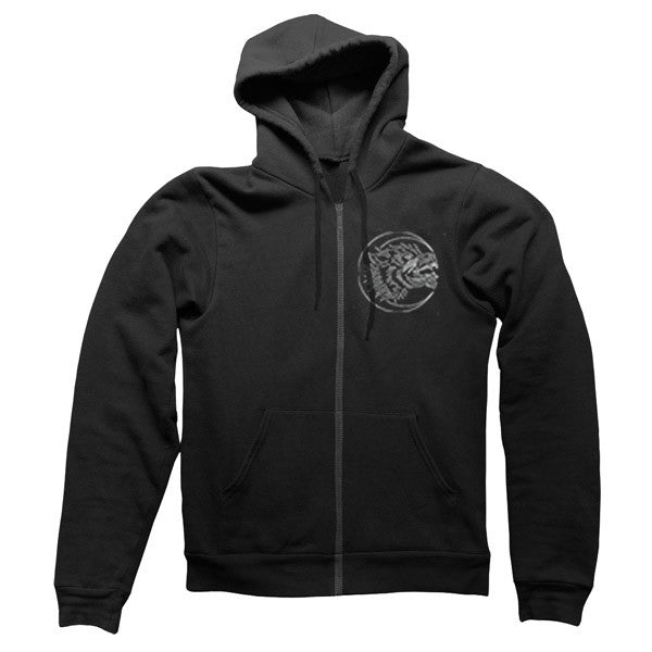 Black Wolves Zip Hoody