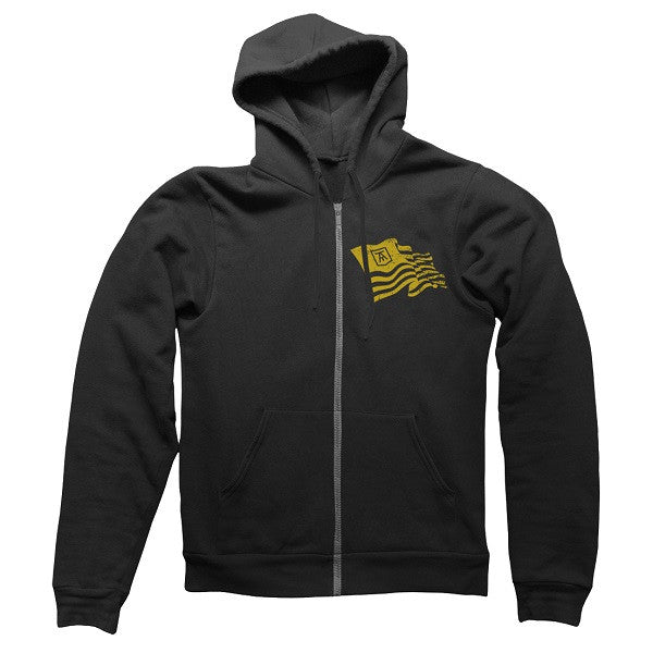 BLACK COLLEGE FLAG ZIPHOOD