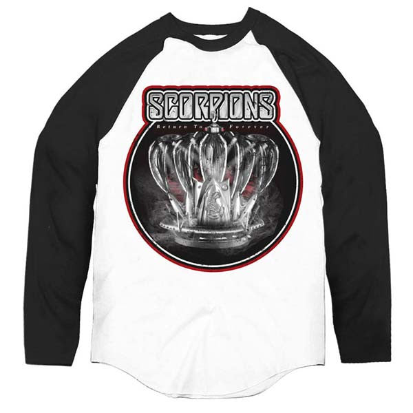 White/Black Return To Forever Crown Baseball Shirt