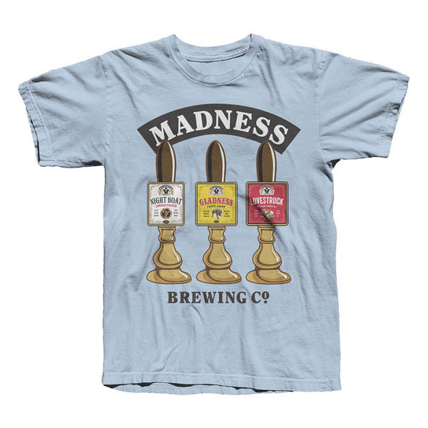 Madness Brewing Co Taps Tee Sky Blue