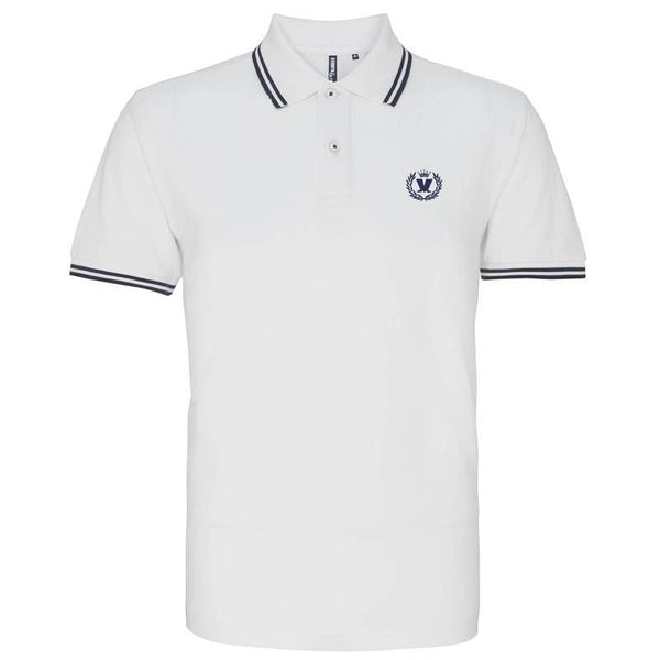 Laurel Two Tone White Polo