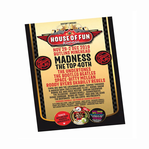 HOF /Electric Ballroom' Double Sided A3 Poster