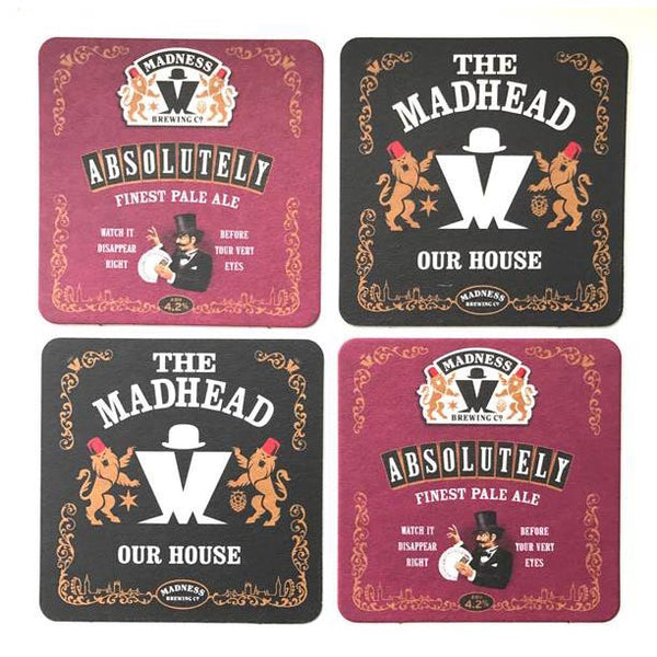 MADNESS BREWING CO BEER MAT SET X5