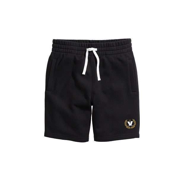 Black Laurel Leaf Shorts