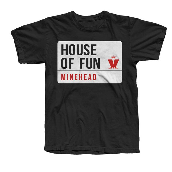 MINEHEAD STREET SIGN T-SHIRT BLACK