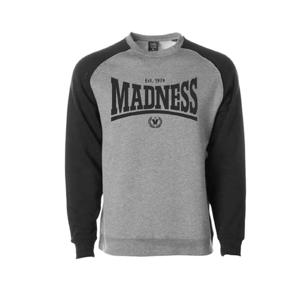 Madsdale Grey and Black Baseball Sweatshirt