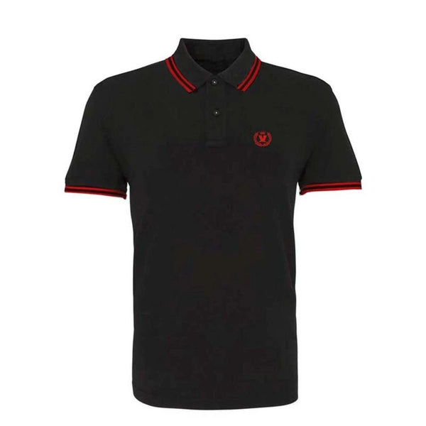 Black Red Laurel Polo